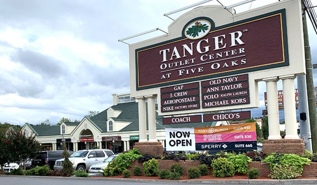 Tanger Outlets, Pigeon Forge, Tennessee (Photo by Morgan Overholt/TheSmokies.com)