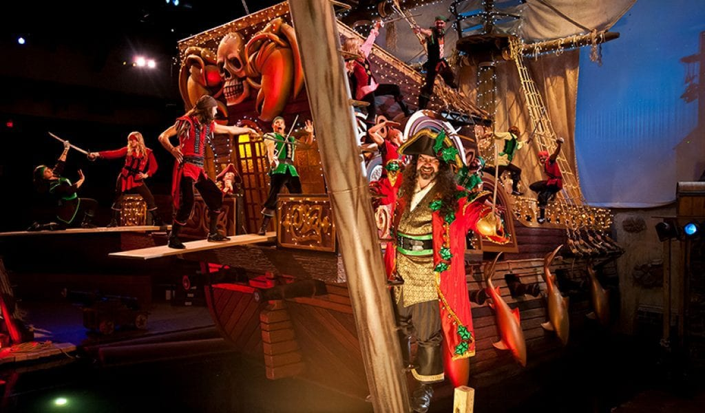 Even the pirates get a little festive at Pirate's Voyage in Pigeon Forge, Tenn. (photo courtesy of Pirates Voyage)