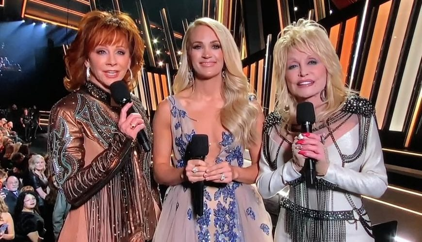 2019 CMA Awards with Reba, Carrie Underwood and Dolly Parton