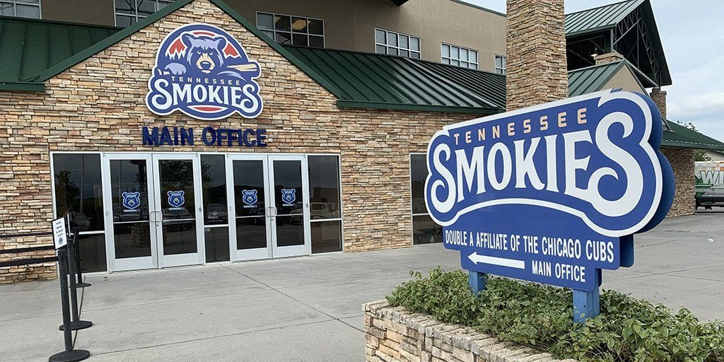 The Smokies Stadium in Kodak TN (photo by Morgan Overholt/TheSmokies.com)