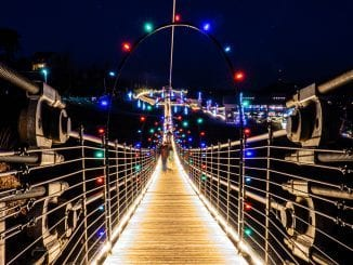 Gatlinburg's Skylift Park lights up every year at Christmas time (photo courtesy of Gatlinburg's SkyLift Park)