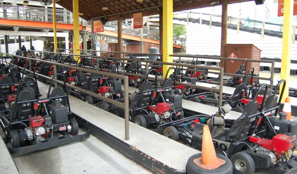 Go Karts at The Track in Pigeon Forge
