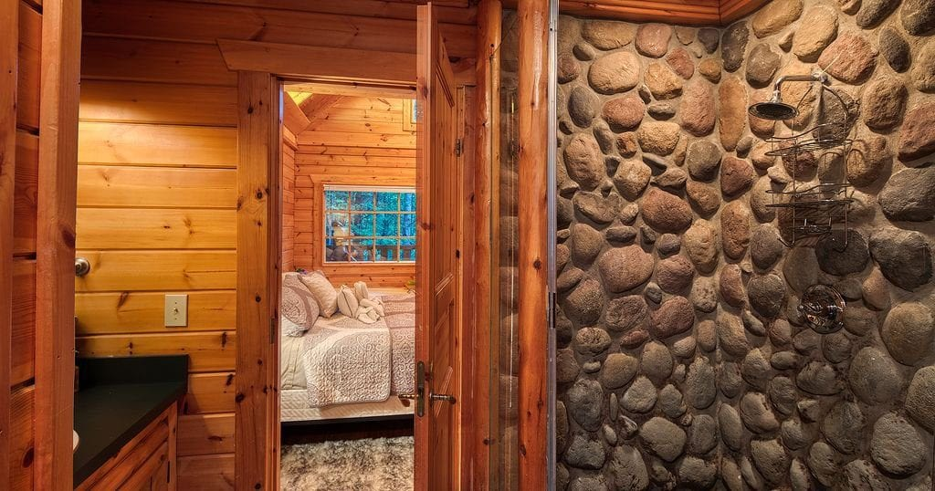 This 'smart cabin' even features a built in Sauna room (photo courtesy of HomeAway)