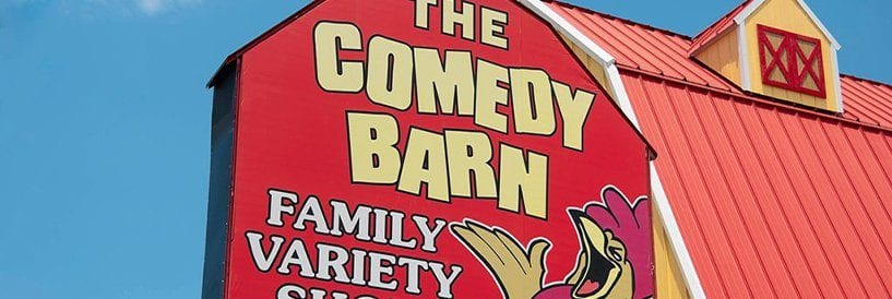 Comedy Barn Sign