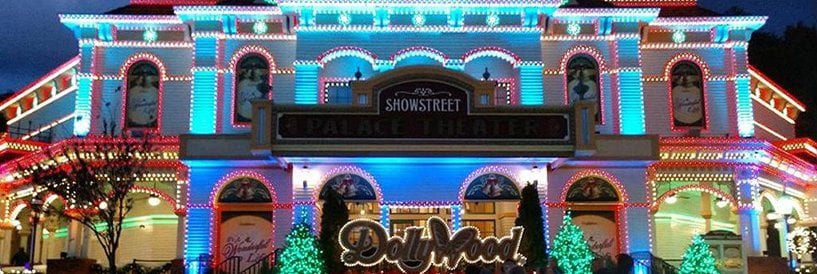 Dollywood Sign Christmas Lights Adorned