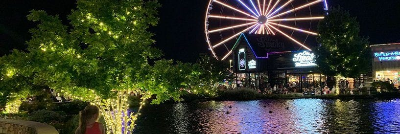 The Island Pigeon Forge at Night