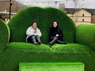 Topiary Joe's green couch at Anakeesta (photo courtesy of Anakeesta)