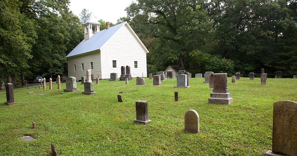 A cemetery in Cades Cove in the Great Smoky Mountain National Park