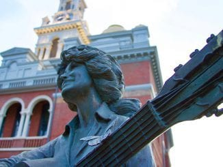 Dolly Parton statue in Sevier County