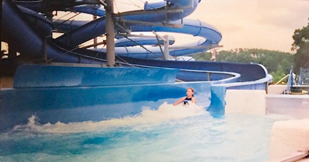 Amanda Giasson rides one of the slides at Ogle's Waterpark, Pigeon Forge (submitted photo by Amanda Giasson)