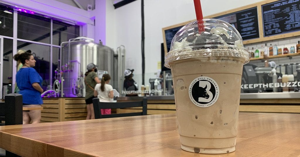 "A ""death by chocolate"" buzzed milkshake at Buzzed Bull Creamery in Pigeon Forge (photo by Morgan Overholt/TheSmokies.com)"