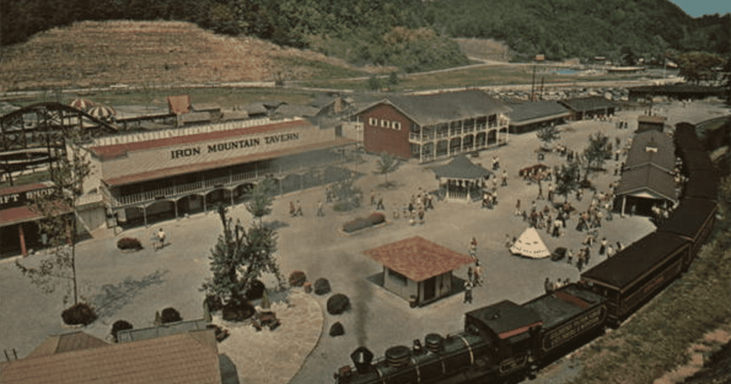 A vintage postcard from Goldrush Junction (archive photo circa 1970)
