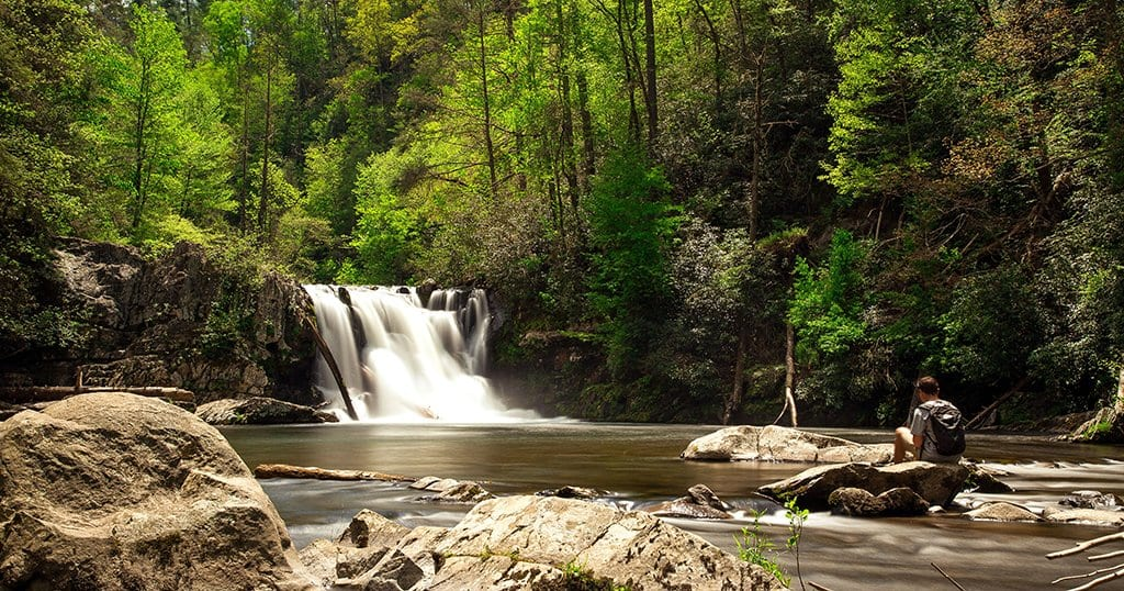Abrams Falls is located in The Great Smoky Mountains National Park (stock photo/TheSmokies.com)