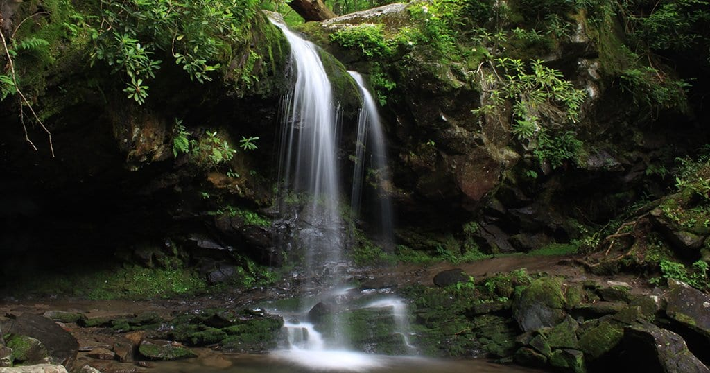 Grotto Falls is located in The Great Smoky Mountains National Park (stock photo/TheSmokies.com)