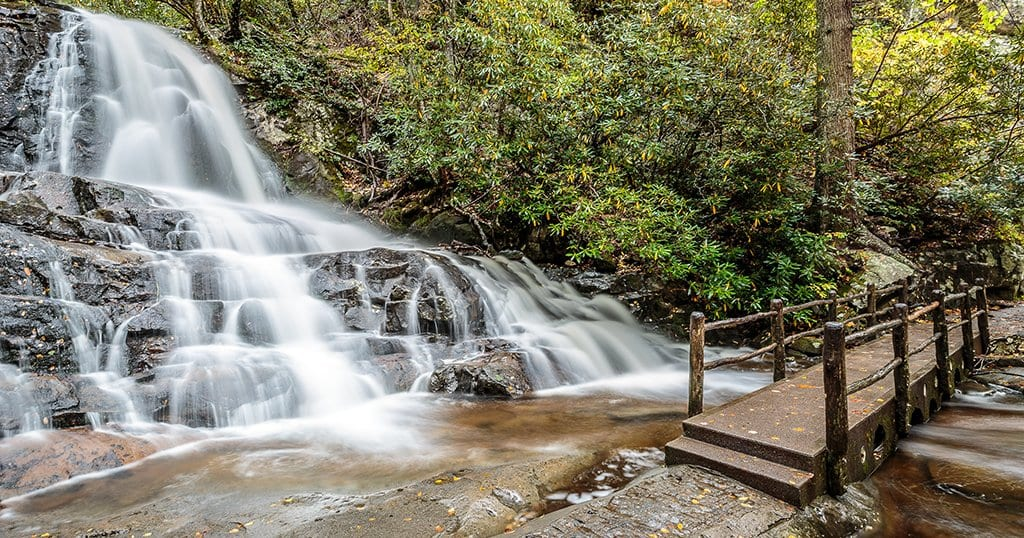 Laurel Falls is located in The Great Smoky Mountains National Park (stock photo/TheSmokies.com)