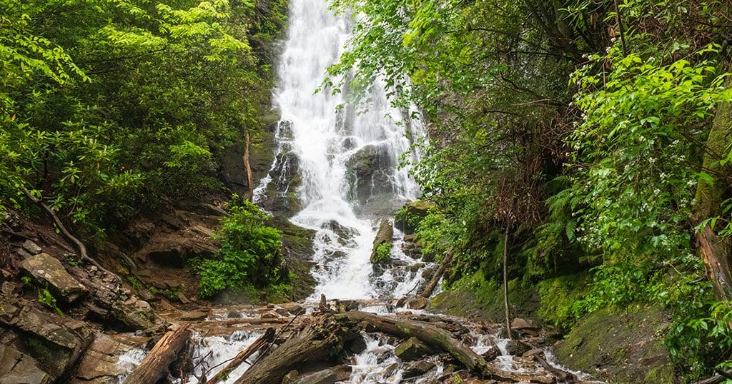 Mingo Falls is located in The Great Smoky Mountains National Park (stock photo/TheSmokies.com)