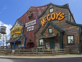 The Hatfield & McCoy Dinner Show is located at 119 Music Rd in Pigeon Forge, TN (photo courtesy of Hatfield & McCoy Dinner Feud)