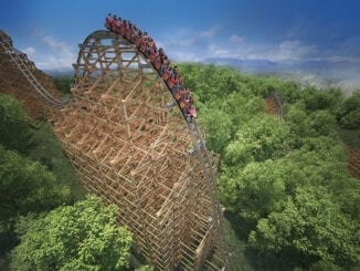 Dollywood's Lightning Rod coaster has received a face lift for the 2021 season (media photo courtesy of Dollywood)