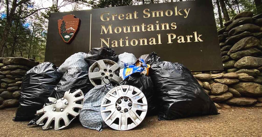 Trash in the Great Smoky Mountains