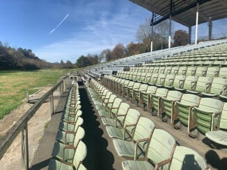 The abandoned bleachers from Tommy Bartlett's Water Circus are still intact (contributed photo)