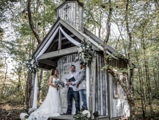 Chapel in the Hollow might be No. 2 on our list because it requires just a bit more of a drive to get to it from Gatlinburg – but its No. 1 in our hearts because of the fabulous scenes and photography (photo courtesy of Chapel in the Hollow/Star Noir Studios)