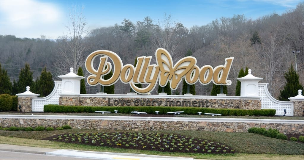 Dollywood theme park in Pigeon Forge